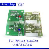 Compatible reset toner and drum cartridge chip C451 550 650 for Konica Minolta Bizhub
