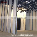 Magnesium base board operable partition wall