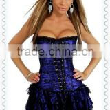Wholesale Black Lace Overlay Slimming body Corset Dress Mateching panties
