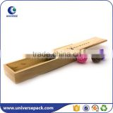 Precious Collect custom wood pen box with slide top and logo                                                                                                         Supplier's Choice