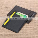 Simple 4 Card Slots Leather Card Holder Leather Credit Card Bag Name Card Wallet ID Card Case