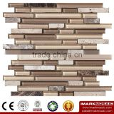 IMARK Mixed Color Crystal Glass Mosaic Tiles Mix Marble Mosaic Tiles for Wall Decoration Code IXGM8-108