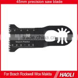 45mm (1-3/4'') Oscillating tool E-cut precision saw blade for fast cutting wood,plastic,high cutting speed,for power tool