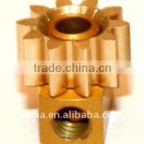 OEM CNC machining brass pinion gear assembly,brass pinion gears/precision brass bevel gears,small high precision gear