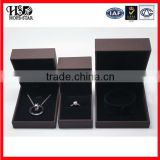 High quality display plastic jewellery box,black velvet ring box wholesale in Guangzhou