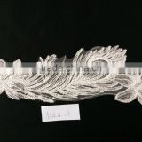Factory supply lace manufacturer with custom sizes white guipure embroidery lace fabric