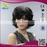 brazilian style high simulate human hair curly wig for white women