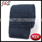 new arrival prussian nacy blue knitted necktie KT063