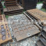High manganese steel jaw plate for jaw crusher