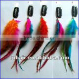 Factory Direct Sales Natural Rooster Feather Hair Extension