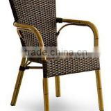 Aluminum Bamboo Garden Rattan Chair] outdoor cafe chair Image