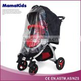 baby stroller rain cover and wind cover waterproof travel system PVC baby stroller weather shield