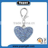 Best Selling Dog Pendant With Rhinestone Metal Heart Dog Charm,Customized Logo