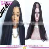 7A Grade Virgin Hair Unique Indian Remy Hair Italian Yaki U Part Wig