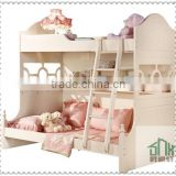 SHX New arrival bunk bed with desk HA-819# solid wood bunk bed for kids wood children bunk bed