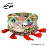 New Bohemian Style Multilayer Tassels Pendant Bracelet with Handmade Magnetic Brazilian Bracelets for Women Gift