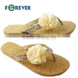 Summer fashion fibre flowers women slipper