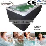 Big Size Outdoor Use Freestanding Guangzhou Endless Swim Spa Neck Massage Jets Whirlpool Spa JY8602