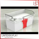 Counter shape covered with shiny class mobile display case for iphone