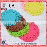 Lace Flower Doilies Silicone Coaster Coffee Table Cup Mats Pad Placemat Kitchen Accessories Cooking Tools