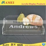 Eco-friendly clear plastic bakery tray wholesale