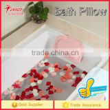 Factory wholesale Super Soft Bathroom Spa Bath Pillow Relax With Suction cup