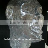 OEM Blow Molding plastic PE skull head/Halloween 3d figure toy decorations Huizhou factory