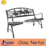 cowboy decorative garden cast iron seats bench sale NTIRH-008Y