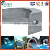 Customized indoor spa pool use arc hook stainless steel spa pool massage swimming pool waterfall