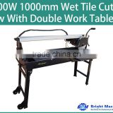 1500W 1000mm Wet Tile Cutter Rail Saw With Double Work Table