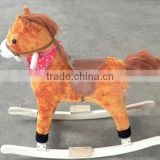 funny baby plush toy wooden rocking horse toy cheap on sales