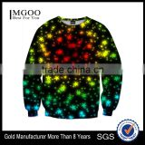 Cheap Price OEM Long Sleeve Crew Neck Sweatshirt Custom Star Sky Sweatshirts With Low MOQ Sweat Shirts Apparel For Men
