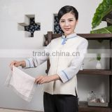 custom fast delivery wholesale women clothing hotel housekeeping uniform in Guangzhou