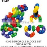 500 g Educational Blocks Plastic Building Semicircle Tube Toy For Kids
