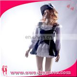 halloween party adult women punk Pirate Costume for women black Faux Leather Sexy Pirates cosplay
