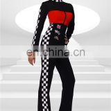 Beautyslove carnival costume red/black racer costume racer girl catsuit car costume sexy halloween costumes for women