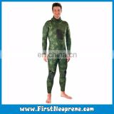 Army Green Camo Printing 3.5mm Neoprene CR Spearfishing Wetsuits For Underwater Hunting