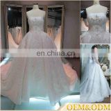 2017 alibaba guangzhou polyester handmade beaded cheap bridal plain ball gown wedding dresses