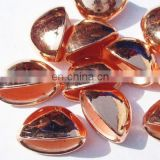 Metallic Plated Acrylic Beads, Copper Coated, size 9x11x18mm