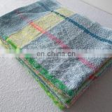 Wholesale yarn dyed jacquards 100% polyester good morning towels cleaning towels