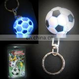 Keychain for souvenir and gift Flashing football round shape ball light up key chain