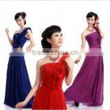 Long Chiffon Bridesmaid Evening Formal Party Ball Gown Prom Dress in 3 colors