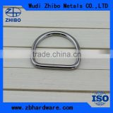 Stainless steel high polished welded D ring, bag accessories , all types of rings, customize products