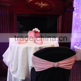 Wedding spandex chair sash with buckle