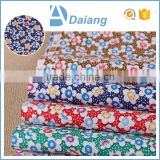 wholesale popular high quality 100% cotton big flower carded printed cotton fabric for bag 2016