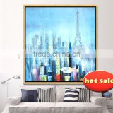 manufacturer paint boy brand hand-painted canvas abstract city landscape oil painting yb-130                                                                         Quality Choice