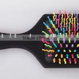 Good quality rainbow pins cushion hair brush                                                                         Quality Choice