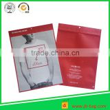 Resealable plastic ziplock packaging bag custom size & design plastic ziplock bag for t-shirt