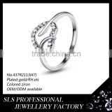 2015 christmas gift new design ladies finger ring silver jewelry ring for girlfriend