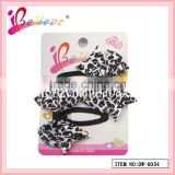 The most popular handmade leopard print pattern no fade colour ribbon bow hairpins (DW--0054)